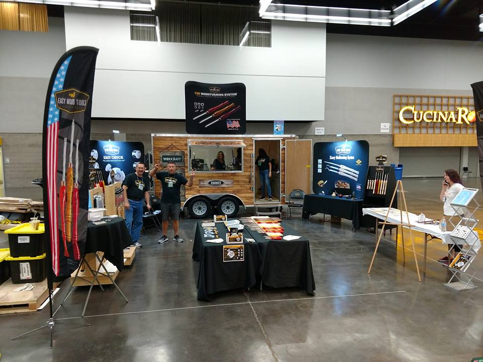 Carl's mobile shop at the 2018 AAW Symposium