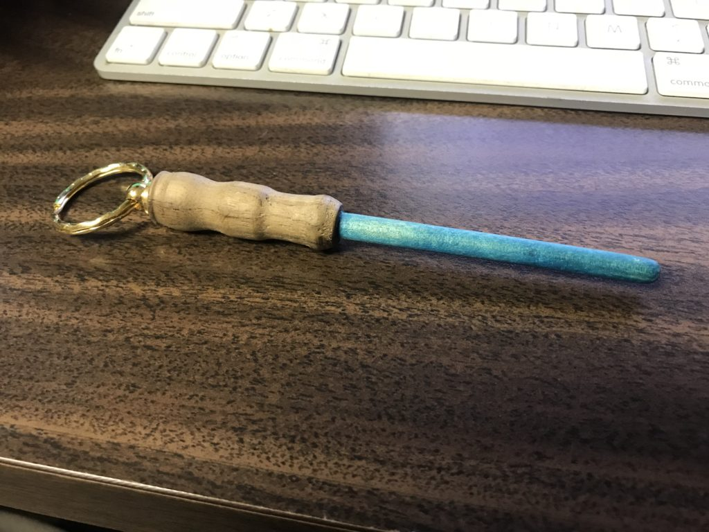 Lightsaber keychain turned by Ray Wright
